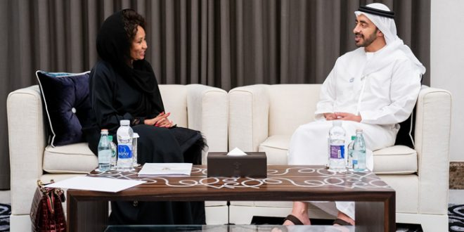 H.H. Sheikh Abdullah bin Zayed receives South African counterpart